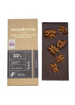 CHOCOLATE VEGANO 52% NUEZ 80GR BIO - KILIAN  - 4260451460020