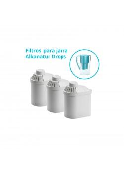 PACK 3 FILTROS RECAMBIO DROPS 1200L - ALKANATUR - 8425402247730