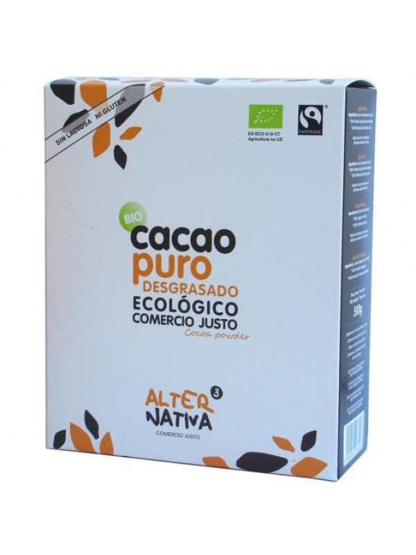 CACAO PURO 500GR BIO - ALTERNATIVA COMERCIO JUSTO - 8435030573828