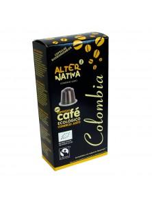 CAFE COLOMBIA EN CAPSULAS 10 UNIDADES BIO - ALTERNATIVA COMERCIO JUSTO - 8435030573477