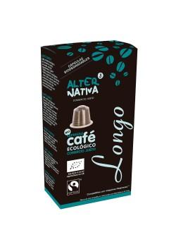 CAFE LONGO EN CAPSULAS 10 UNIDADES BIO - ALTERNATIVA COMERCIO JUSTO - 8435030573644