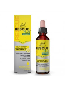 RESCUE REMEDI PLUS SIN ALCOHOL 20ML - BACH ORIGINAL FLOWER REMEDY - 5000488300673
