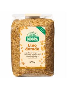 SEMILLAS DE LINO DORADO 500GR BIO - BIOGRA - 8426904171561