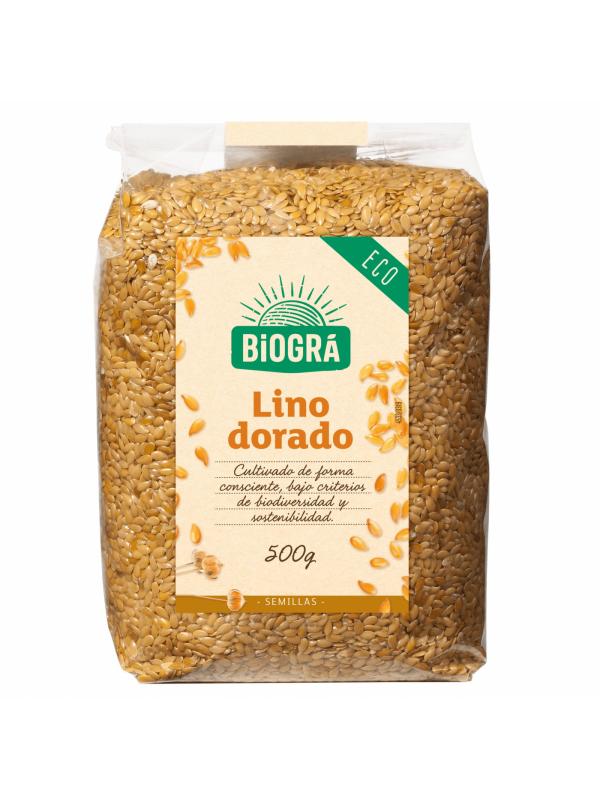 SEMILLAS DE LINO DORADO 500GR BIO