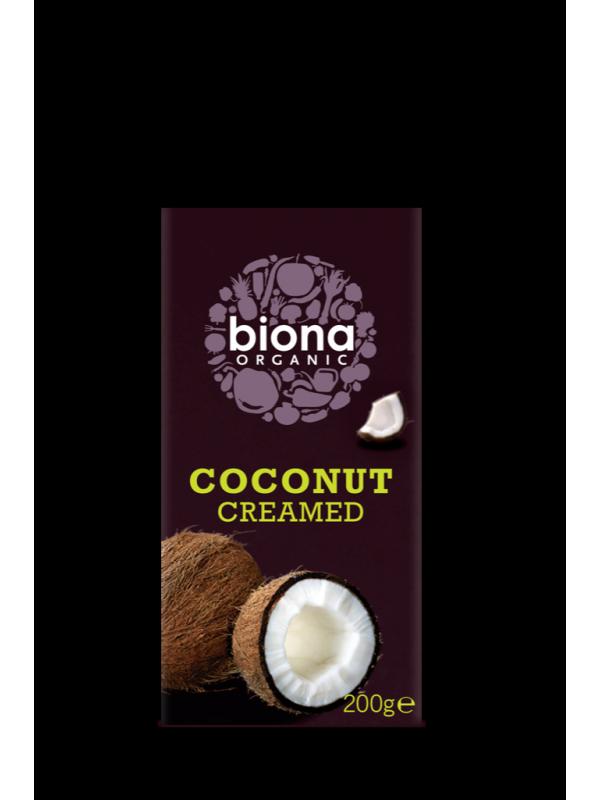 COCONUT CREAMED 200GR BIO - BIONA - 5032722307018