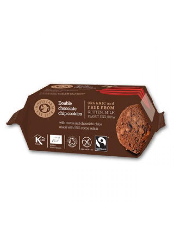 GALLETAS CON DOBLE CHOCOLATE SIN GLUTEN 180GR BIO - DOVES FARM - 5011766991261
