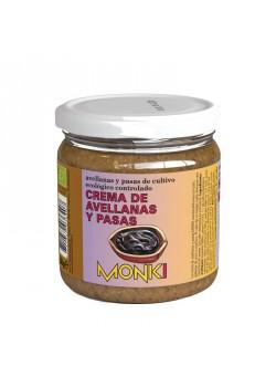 CREMA DE AVELLANAS Y PASAS 330GR BIO - MONKI - 8712439036407