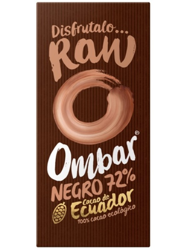 CHOCOLATE CRUDO 72% 70GR BIO - OMBAR - 5060102662112