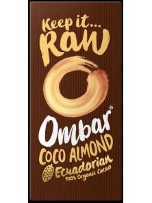 CHOCOLATE CRUDO  ALMENDRAS COCO 70GR BIO - OMBAR - 5060102662129