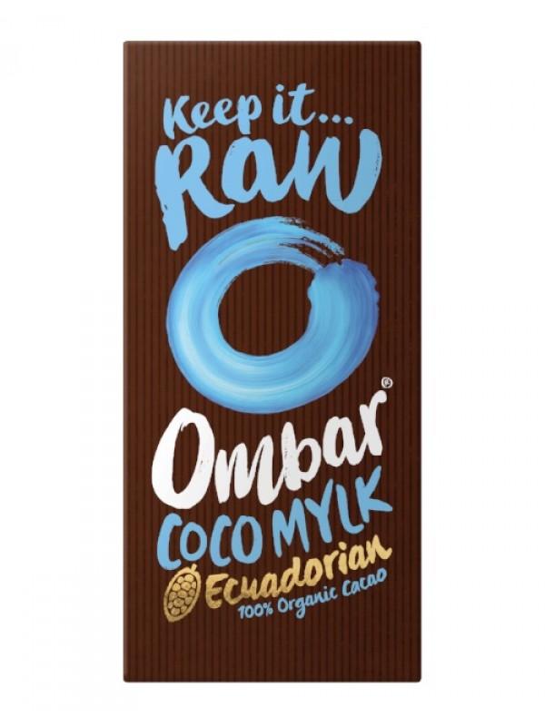 CHOCOLATE CRUDO CON CREMA DE COCO 70GR BIO - OMBAR