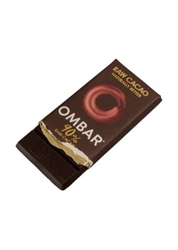 CHOCOLATE CRUDO NEGRO 90% 35GR BIO - OMBAR - 5060102661931