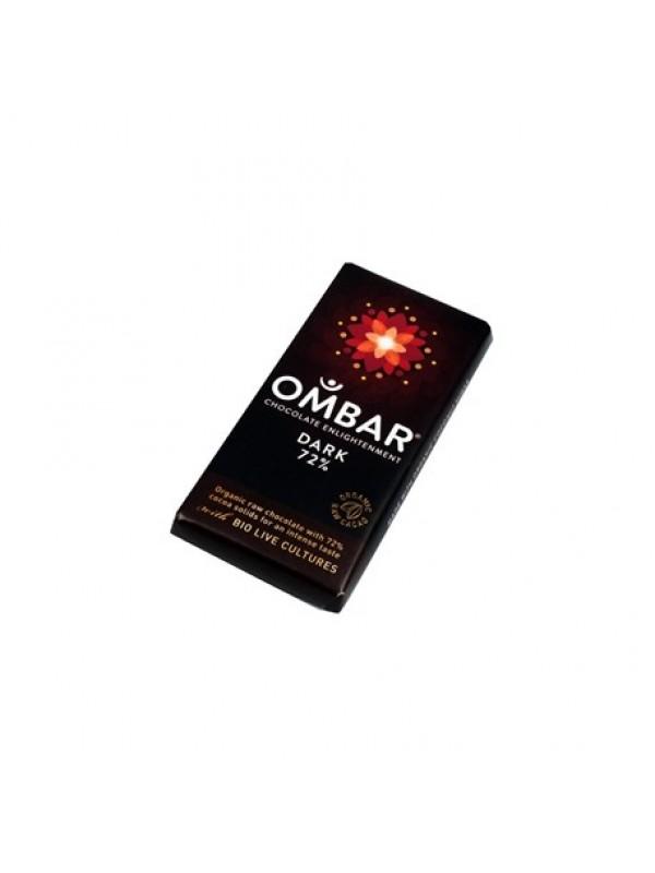 CHOCOLATE CRUDO 35GR NEGRO 72% BIO - OMBAR