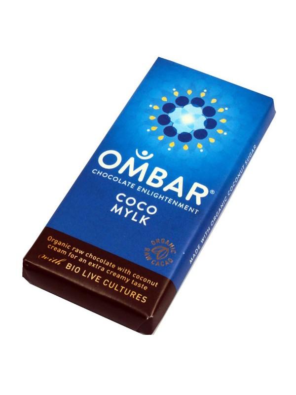 CHOCOLATE CRUDO CON LECHE DE COCO 35GR BIO - OMBAR