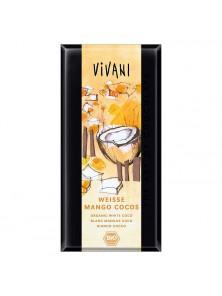 CHOCOLATE BLANCO CON MANGO Y COCO 80GR BIO - VIVANI - 4044889003246