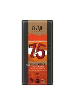 CHOCOLATE NEGRO 75% CON AZUCAR DE COCO 80GR BIO - VIVANI - 4044889002713