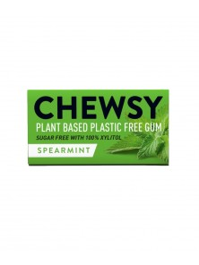 CHICLE NATURAL SABOR HIERBABUENA 10 CHICLES - CHEWSY ALL NATURAL GUM - 5060583260012