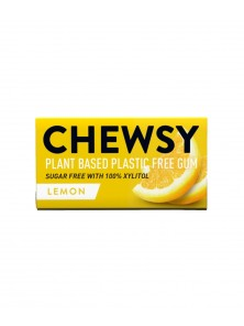 CHICLE NATURAL SABOR LIMON 10 CHICLES - CHEWSY ALL NATURAL GUM - 5060583260029