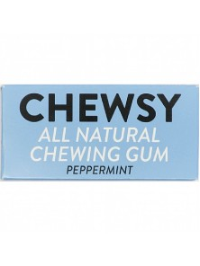 CHICLE NATURAL SABOR MENTA 10 CHICLES - CHEWSY ALL NATURAL GUM - 5060583260005