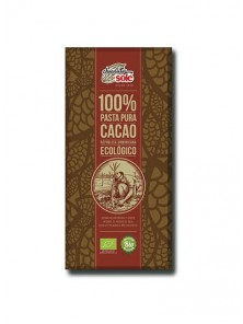 **CHOCOLATE 100% 'PASTA DE CACAO' 100GR BIO - CHOCOLATES SOLE - 8411066002846