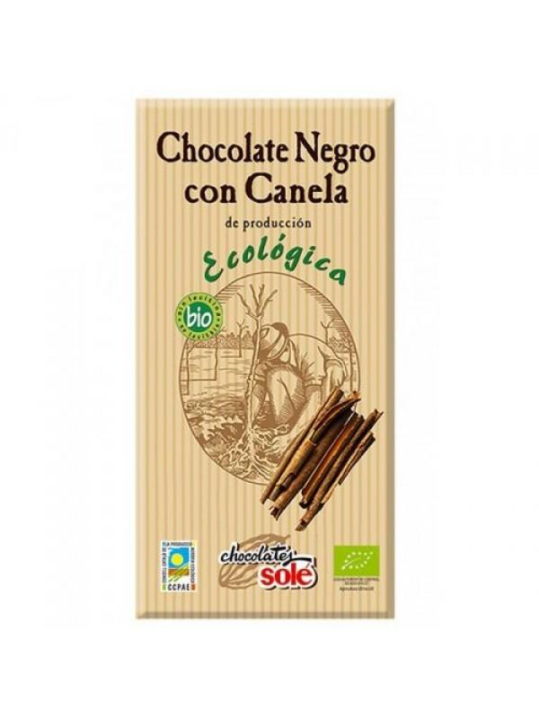 CHOCOLATE NEGRO CON CANELA 100GR BIO - SOLE - 8411066003010