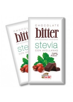 CHOCOLATE NEGRO CON STEVIA 72% Y AVELLANAS 100GR BIO - CHOCOLATE SOLE - 8411066002532