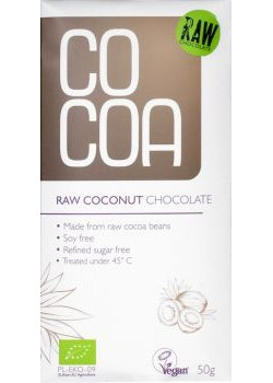 RAW COCONUT CHOCOLATE 50GR BIO - COCOA - 5902565210045