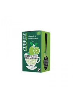 INFUSION GREEN TEA LIMA & GINGER 20 BOLSAS BIO - CUPPER - 5021991942389