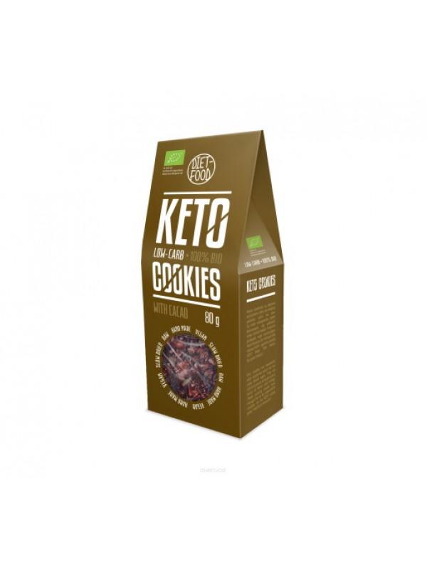 BIO KETO COOKIES CON CACAO 80G - DIET FOOD - 5906660508809