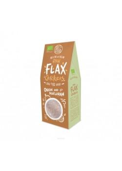 BIO RAW FLAX CRACKERS CEBOLLA Y MEJORANA 90GR - DIET FOOD - 5906395147922