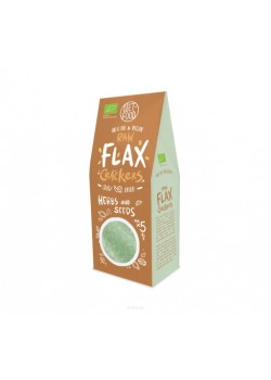 BIO RAW FLAX CRACKERS HIERBAS Y SEMILLAS 90GR - DIET FOOD - 5906395147946