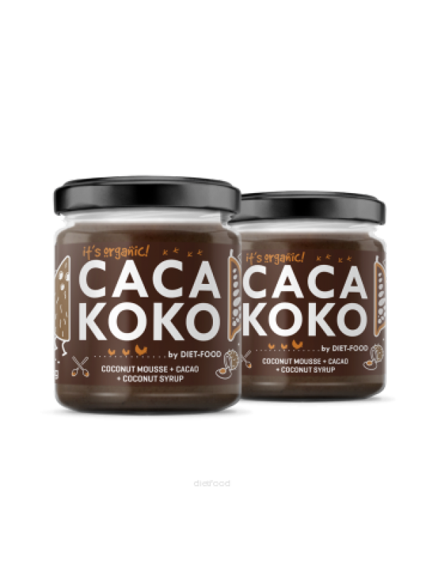 CREMA DE COCO CON CACAO 200GR - DIET FOOD - 5901549275131