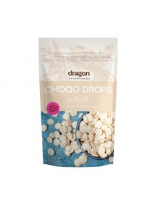 CHOCO DROPS WHITE 250GR BIO - DRAGON SUPERFOODS - 3800233686739