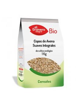 COPOS DE AVENA SUAVES INTEGRAL 1KG BIO - EL GRANERO INTEGRAL - 8422584048414