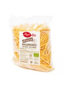MACARRONES DE MAIZ Y ARROZ SIN GLUTEN 500GR BIO - EL GRANERO INTEGRAL - 8422584088243