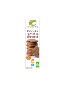 **GALLETAS CON PEPITAS DE CHOCOLATE SIN GLUTEN 130GR BIO - NATURE & CIE - 3760154260619