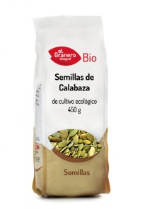 SEMILLAS DE CALABAZA 450 GR BIO - EL GRANERO INTEGRAL - 8422584018172