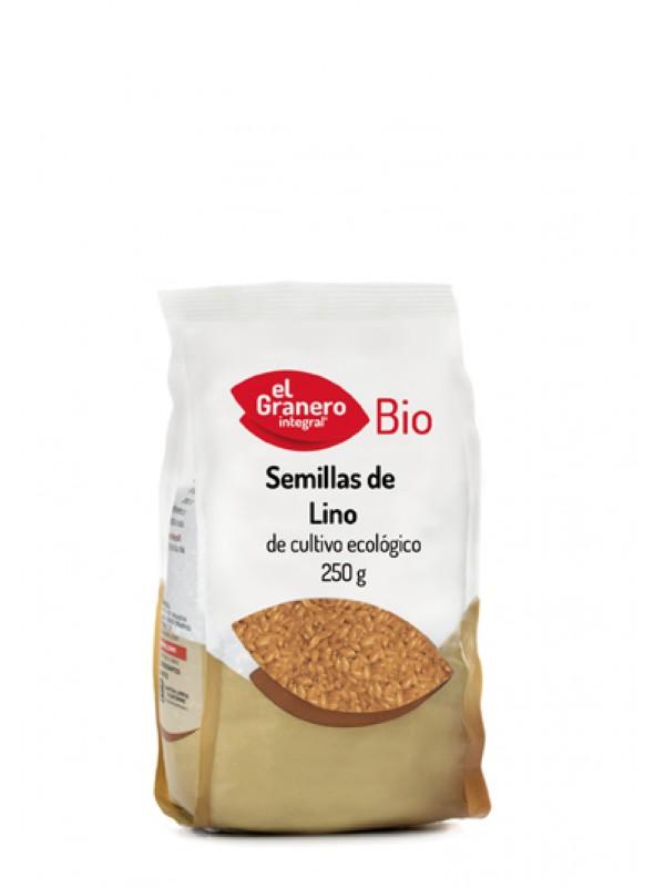 SEMILLAS DE LINO BIO 250GR - EL GRANERO INTEGRAL - 8422584018790