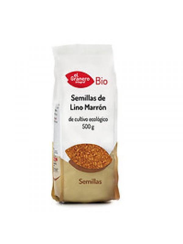 SEMILLAS DE LINO MARRON 500GR BIO - EL GRANERO INTEGRAL - 8422584019278