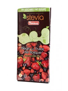 **CHOCOLATE NEGRO FRUTOS DEL BOSQUE CON STEVIA 125GR - TORRAS - 8410342005526