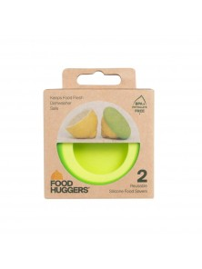 SET 2 TAPAS DE SILICONA LIMON - FOOD HUGGERS - 644216602520