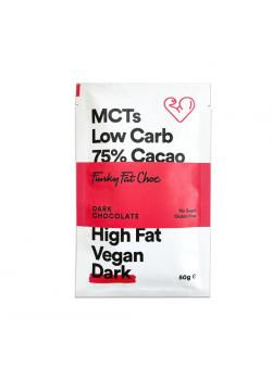 KETO CHOCO DARK 75% 50GR - FUNKY FAT - 8719326493497