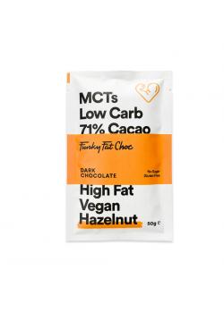 KETO CHOCO HAZELNUT 71% 50GR - FUNKY FAT - 8719326493473