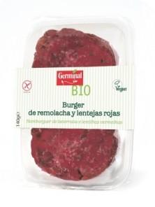 BURGUER DE REMOLACHA Y LENTEJAS ROJAS 140GR BIO - GERMINAL - 8001091001404