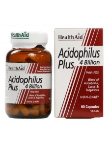ACIDOPHILUS PLUS 4 BILLION 60 CAPSULAS - HEALTH AID - 5019781015672