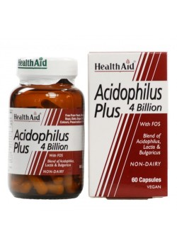 ACIDOPHILUS PLUS 4 BILLION 60 CAPSULAS - HEALTH AID - 5019781015672
