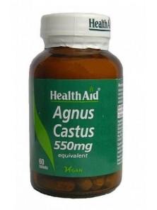 AGNUS CASTUS 550MG 60 COMPRIMIDOS - HEALTH AID - 5019781025220