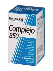 COMPLEJO B-50 30 COMPRIMIDOS - HEALTH AID - 5019781010103