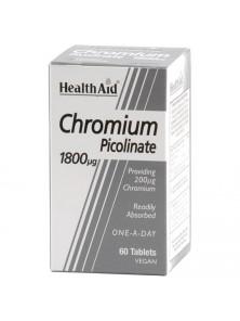 CROMO PICOLINATO 200MCG 60 CAPSULAS - HEALTH AID - 5019781020256
