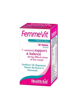 FEMME VIT 60 COMPRIMIDOS - HEALTH AID - 5019781016006