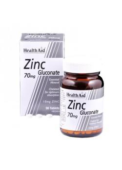 GLUCONATO DE ZINC 90 COMPRIMIDOS - HEALTH AID - 5019781020300